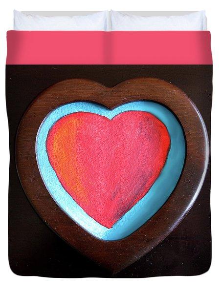 Hearts Afire Duvet Cover