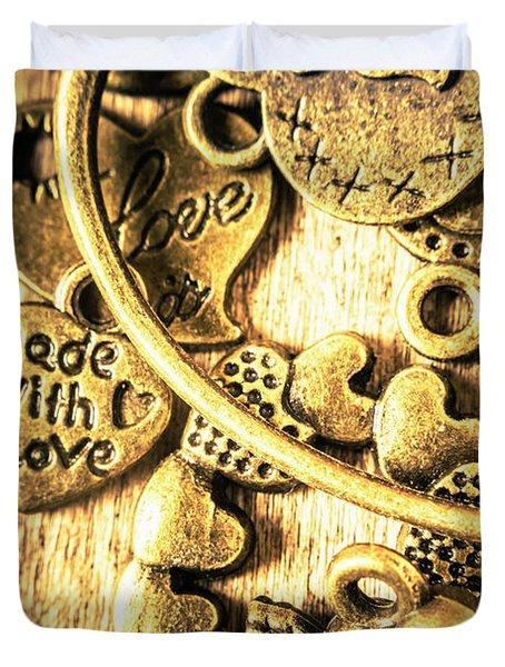 Hearts And Treasure Duvet Cover
