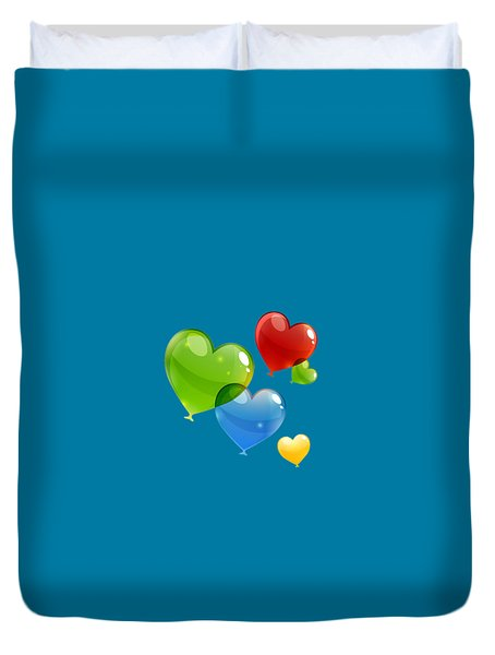 Hearts 11 T-shirt Duvet Cover