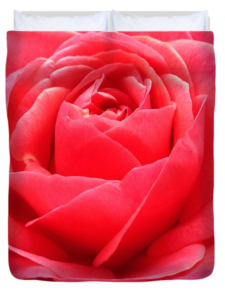 Hearts Desire Red Rose Duvet Cover
