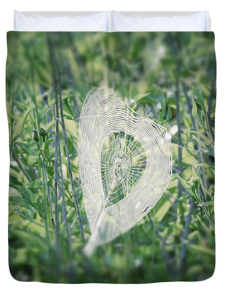 Hearts In Nature - Heart Shaped Web Duvet Cover
