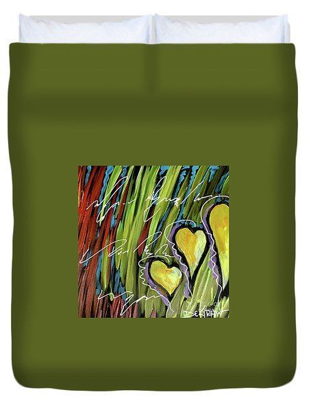 Hearts In The Grass Duvet Cover