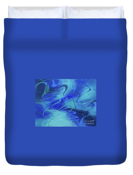 Heartsong Blue 1 Duvet Cover