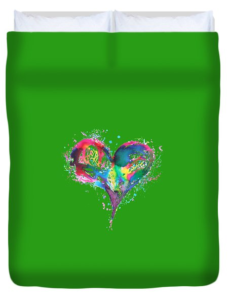 Hearts 6 T-shirt Duvet Cover by Herb Strobino