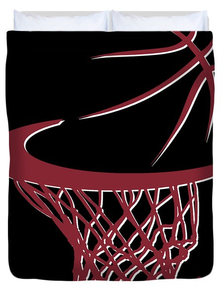 Heat Basketball Hoop Duvet Cover