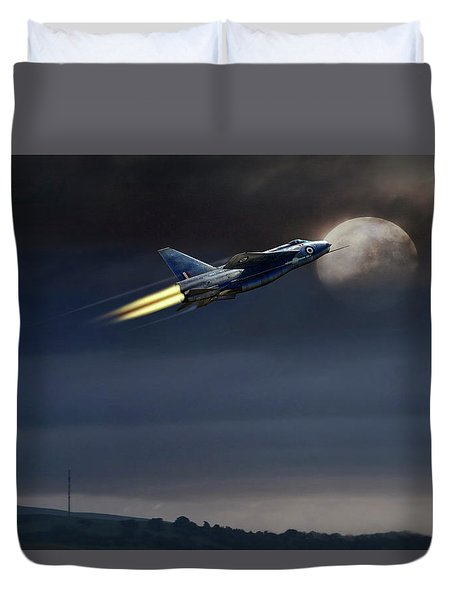Duvet Cover featuring the digital art Heat Of The Night by Peter Chilelli