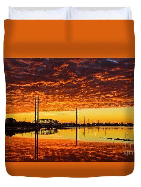 Swing Bridge Heat Duvet Cover