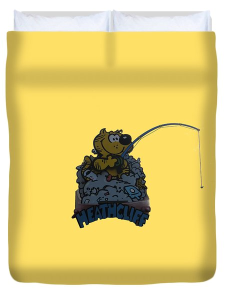 Duvet Cover featuring the photograph Heathcliff by Tom Prendergast