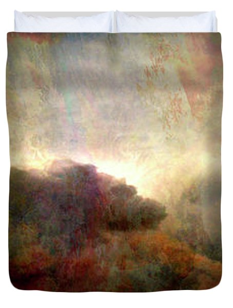 Heaven And Earth - Abstract Art Duvet Cover by Jaison Cianelli