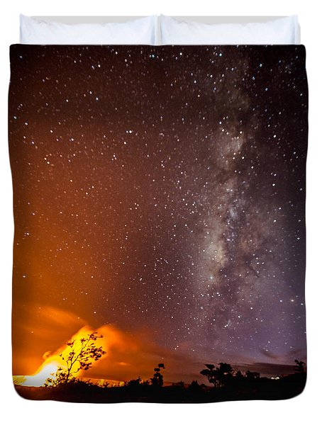 Duvet Cover featuring the photograph Heaven And Hell by Allen Biedrzycki