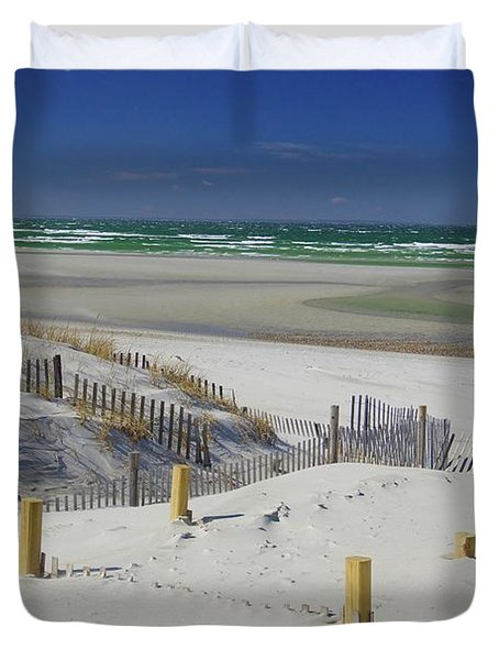 Heaven At Mayflower Beach Duvet Cover