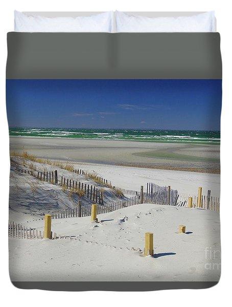 Heaven At Mayflower Beach Duvet Cover