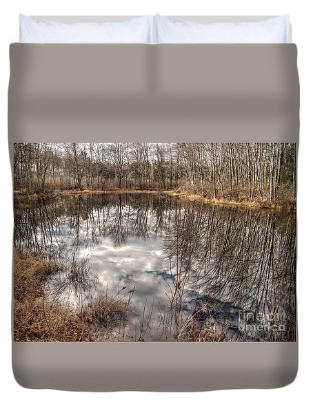 Heaven Below Duvet Cover by Betsy Zimmerli