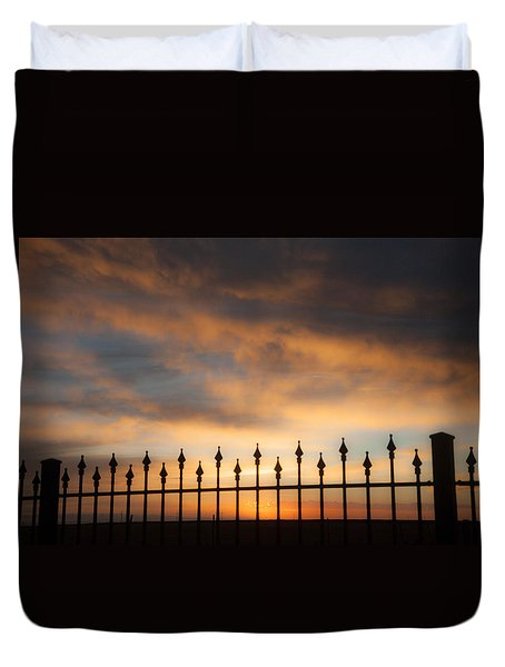 Duvet Cover featuring the photograph Heaven Waits by Shirley Heier