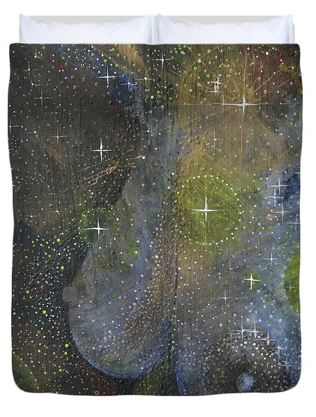 Duvet Cover featuring the painting Heavenly Body Aka The Milky Way by Kym Nicolas