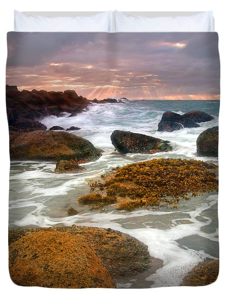Heavenly Dawning Duvet Cover by Mike  Dawson