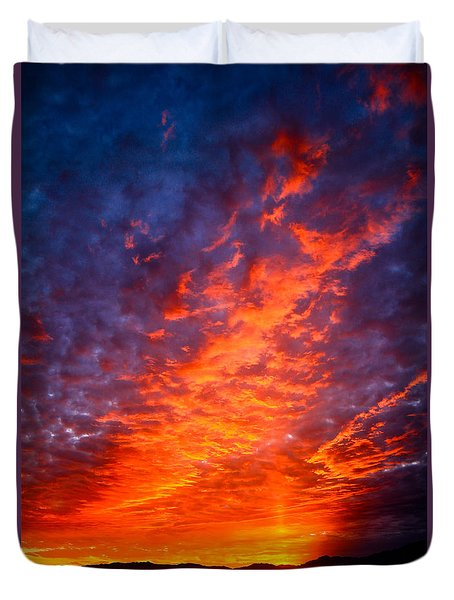 Heavenly Flames Duvet Cover