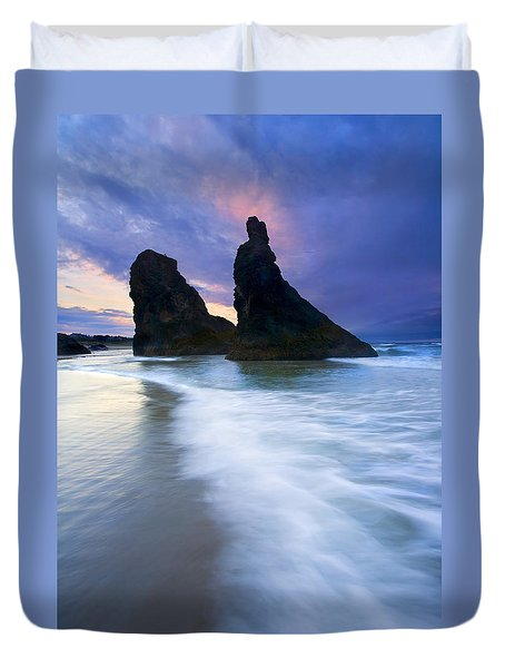 Heavenly Halo Duvet Cover by Mike  Dawson