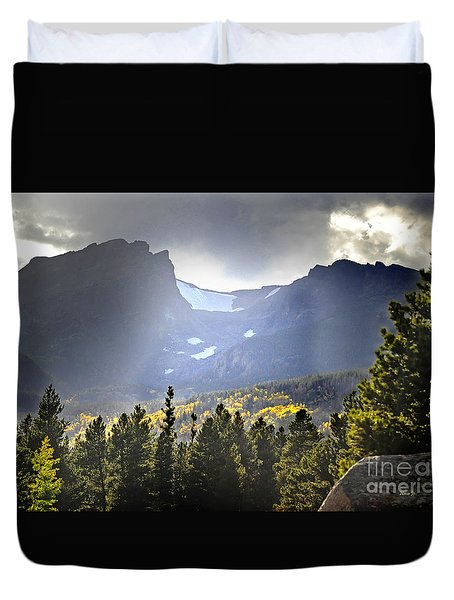Duvet Cover featuring the photograph Heavenly Rockies  Rmnp by Nava Thompson