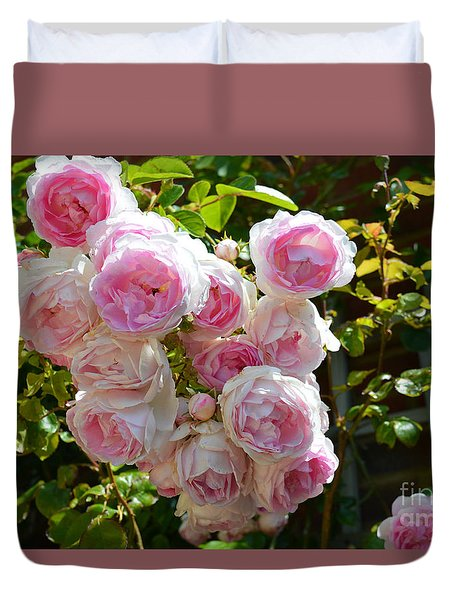 Heavenly Roses Duvet Cover by Beatrice Cloake