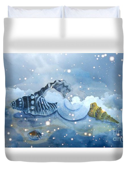 Heavenly Shells Duvet Cover by Leanne Seymour