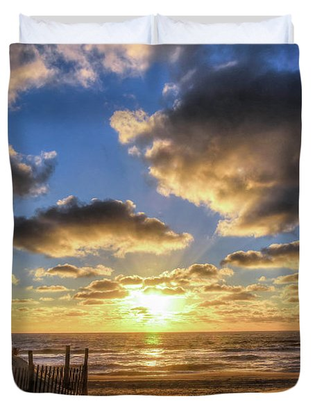 Heavenly Skies At The Jersey Shore Duvet Cover