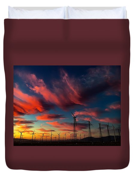 Heavenly Sunrise Duvet Cover by Chris Tarpening