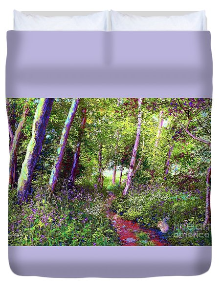 Heavenly Walk Among Birch And Aspen Duvet Cover
