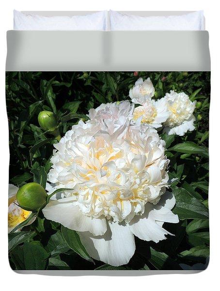 Heavenly White Duvet Cover by Teresa Schomig