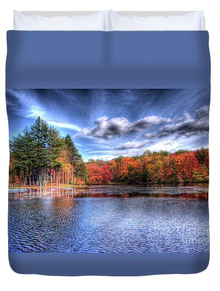 Heaven's Blue Duvet Cover