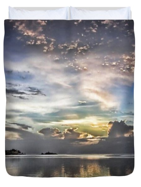 Heaven's Light - Coyaba, Ironshore Duvet Cover by John Edwards