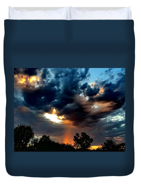 Heaven's Paint Brush Duvet Cover by Chris Tarpening