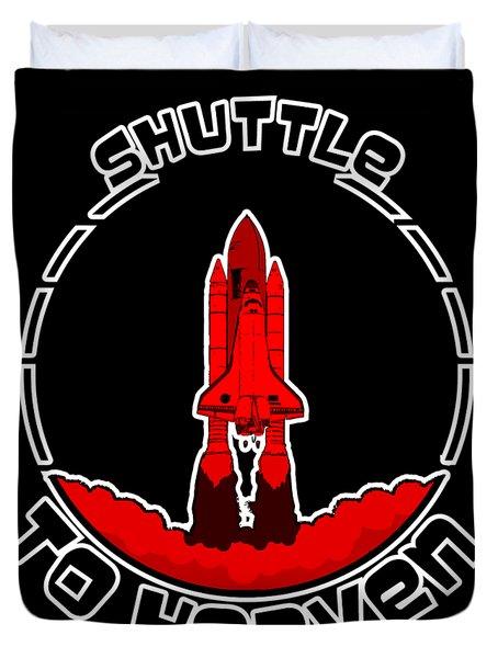 Heavens Shuttle Duvet Cover