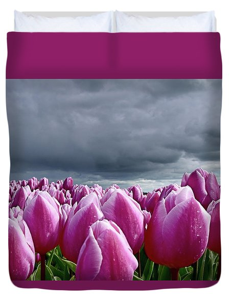 Heavy Clouds Duvet Cover by Mihaela Pater