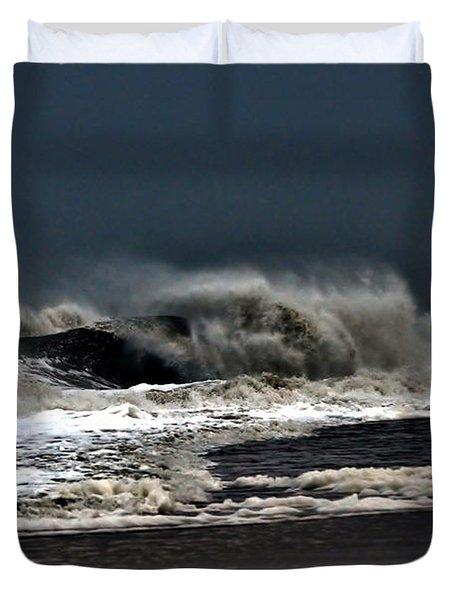 Stormy Surf Duvet Cover