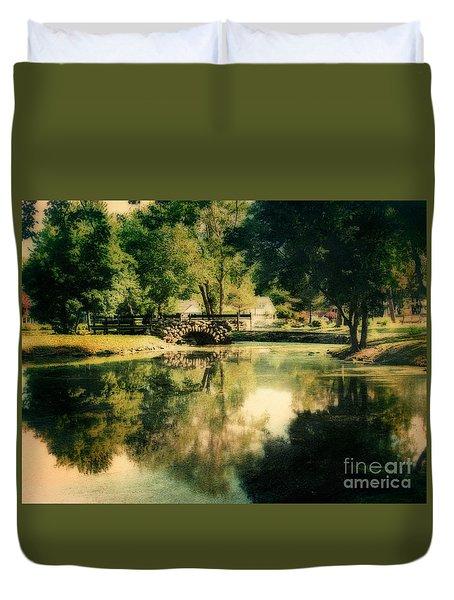Heckscher Park Pond, Huntington Ny Duvet Cover