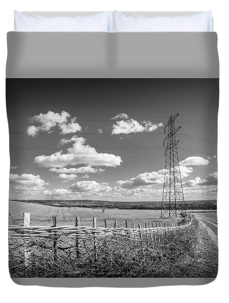 Duvet Cover featuring the photograph Hedge Laying. by Gary Gillette