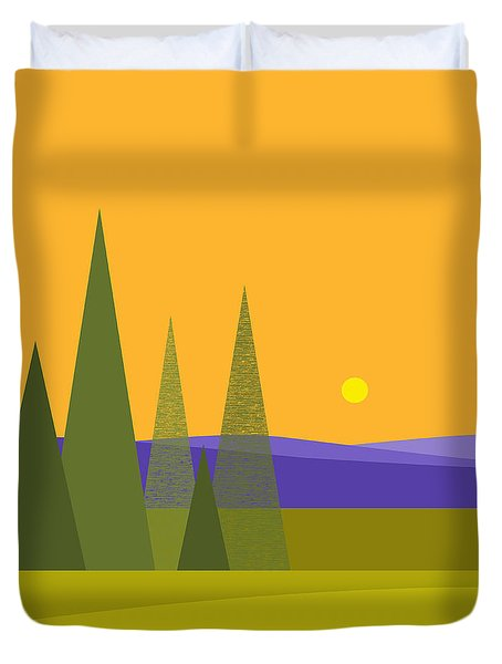 Rolling Hills Duvet Cover by Val Arie