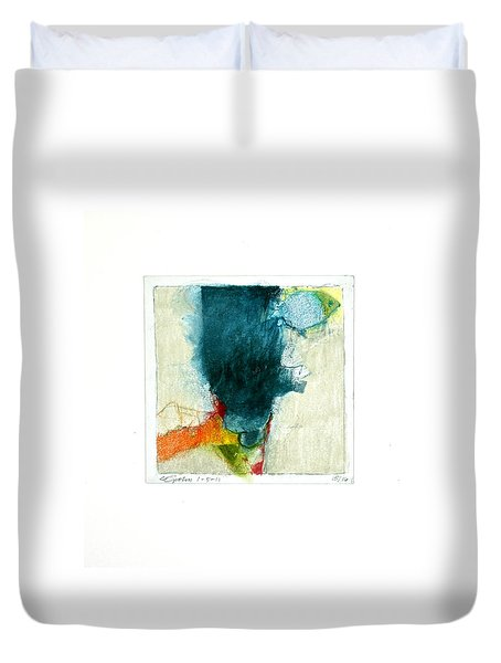 Duvet Cover featuring the drawing Hedgefishog  --start-- by Cliff Spohn