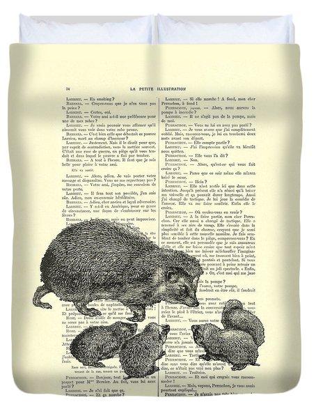 Hedgehog Family Duvet Cover