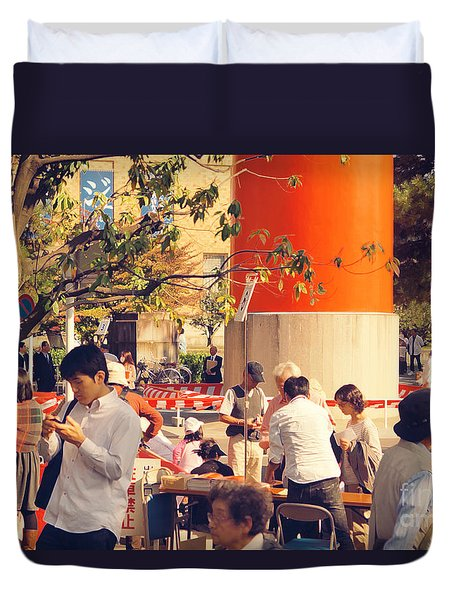 Duvet Cover featuring the photograph Heian by Cassandra Buckley