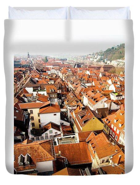 Heidelberg Cityscape Duvet Cover