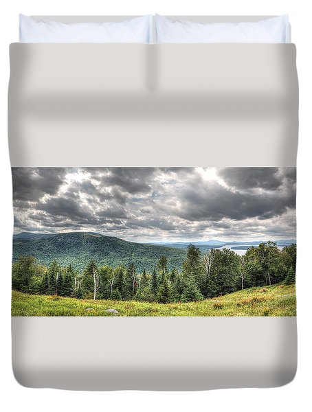 Height Of The Land Panorama Duvet Cover