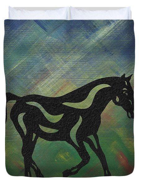 Heinrich - Abstract Horse Duvet Cover