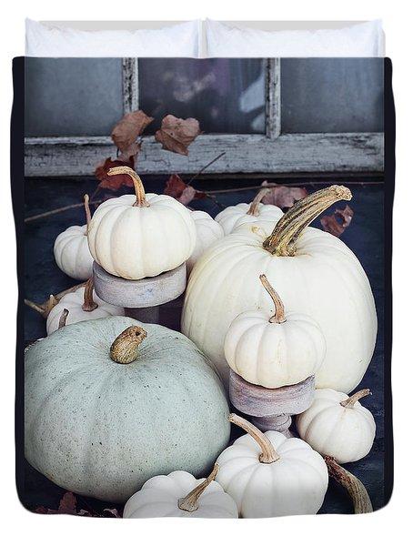 Heirloom Pumpkins And Antlers Duvet Cover