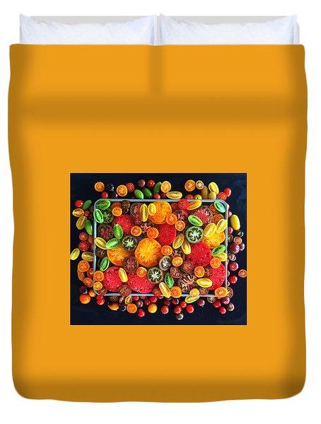 Heirloom Tomato Medley Duvet Cover