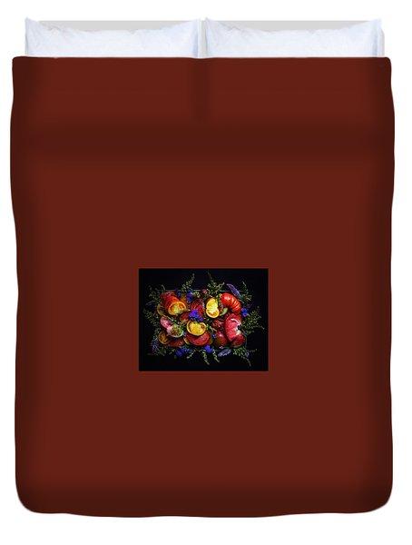 Heirloom Tomato Platter Duvet Cover
