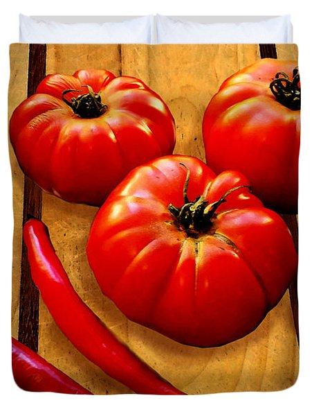 Heirloom Tomatoes Duvet Cover