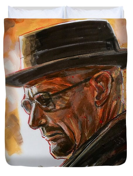 Duvet Cover featuring the painting Heisenberg by Joel Tesch
