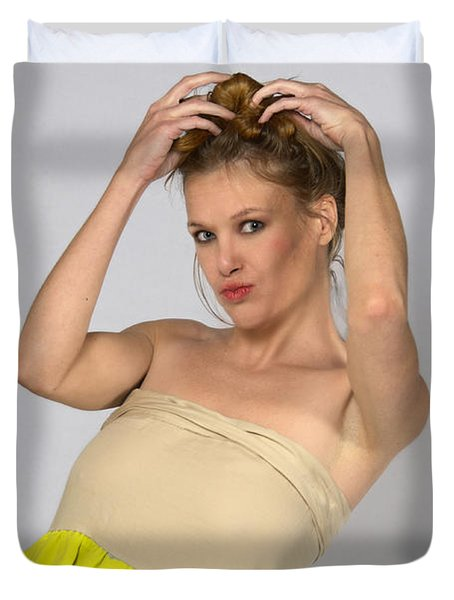 Helen In Party Dress Duvet Cover
